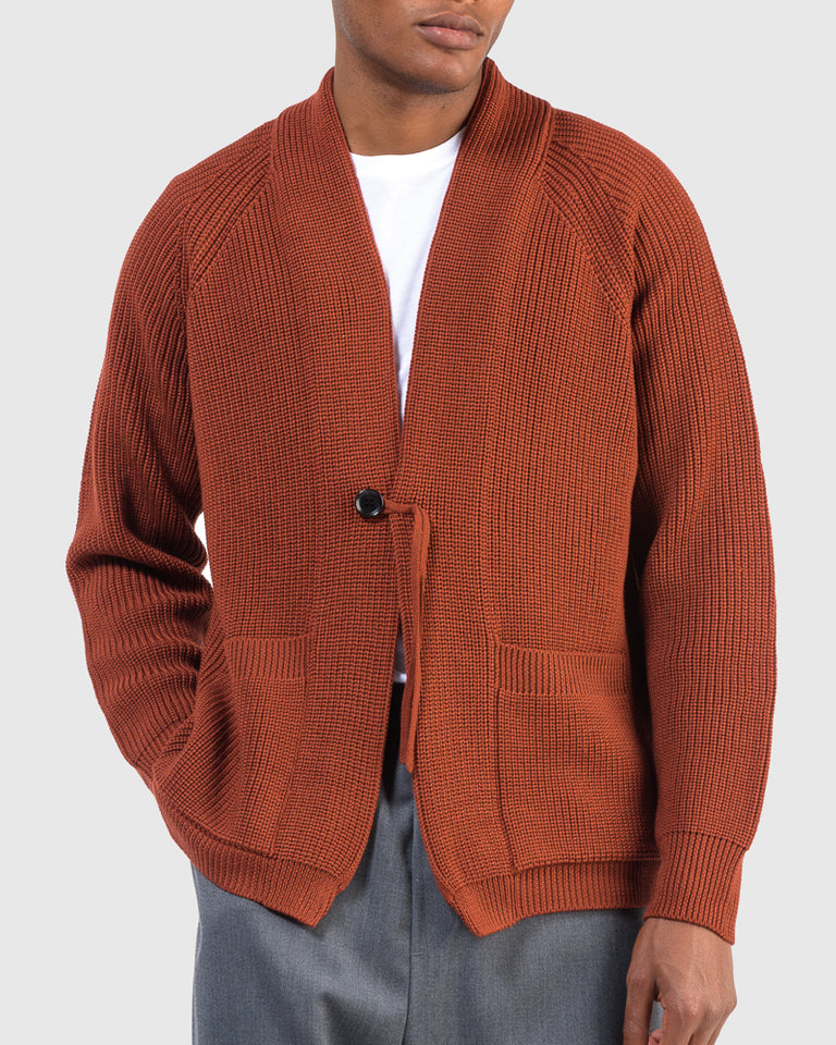 Signature Shawl Collar in Terracotta