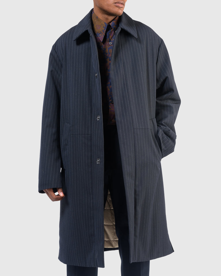 Rubar Coat in Navy