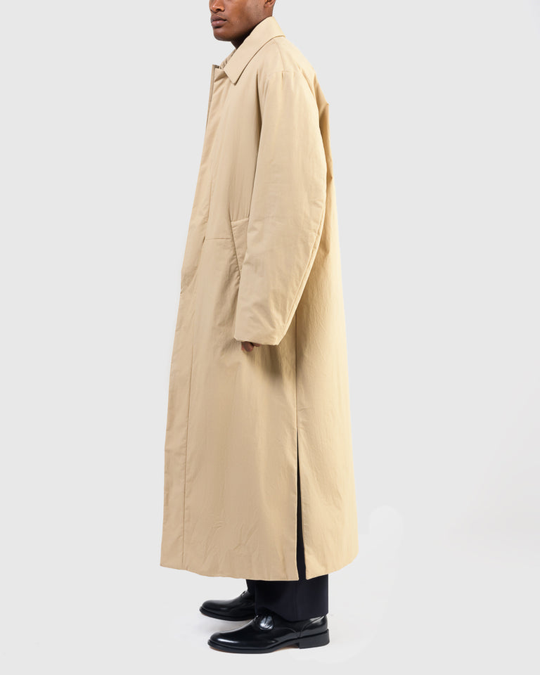 Rubar Long Coat in Beige