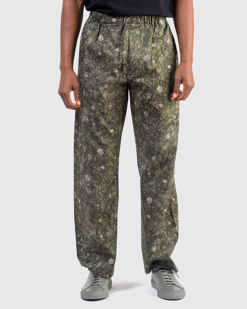 Light Elasticated Pants in Forest Moss