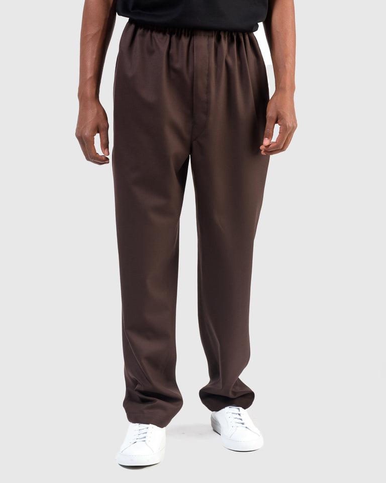 String Pants in Seal Brown