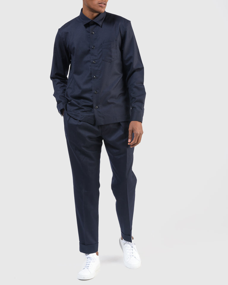 Sol Overshirt in Navy