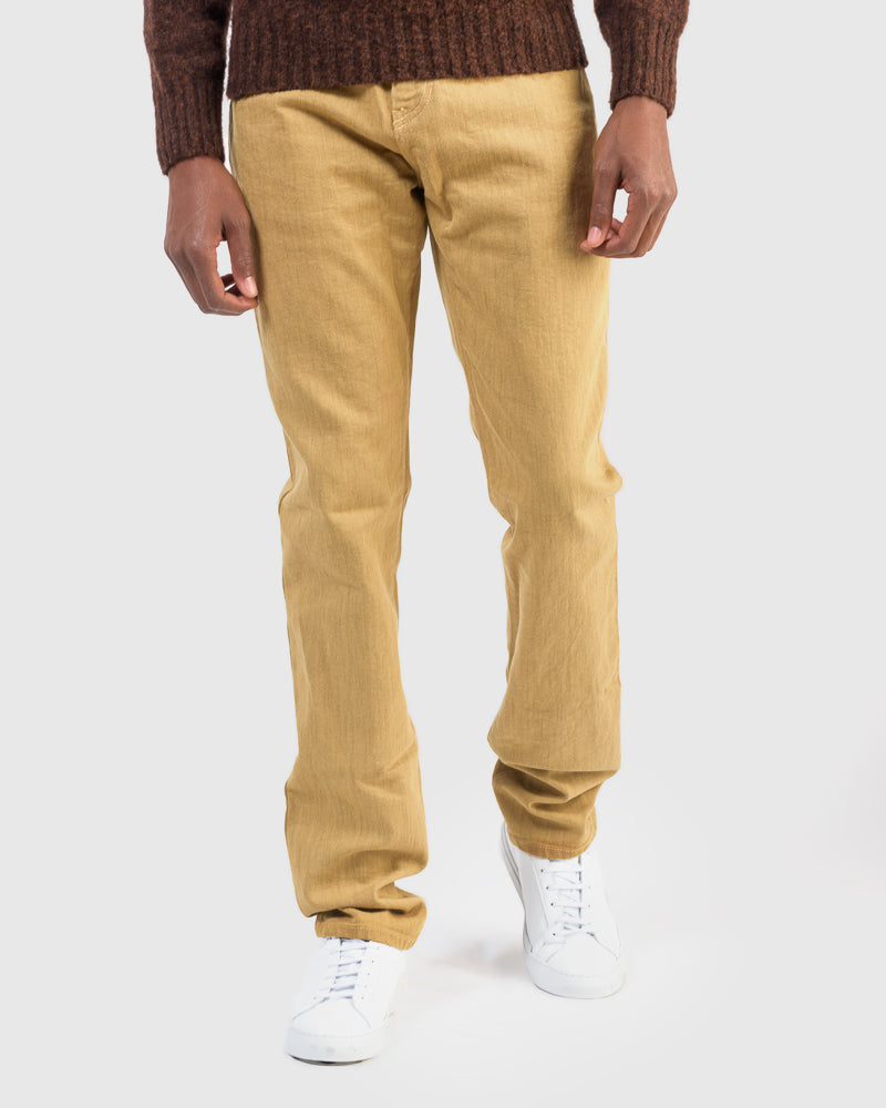 Alexander Stretch Denim in Honey