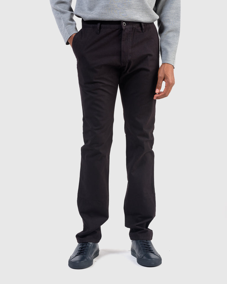 Jones Trouser in Black Canvas