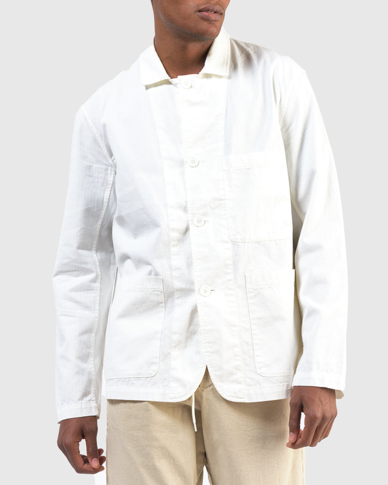 Hunter Jacket in Herringbone White
