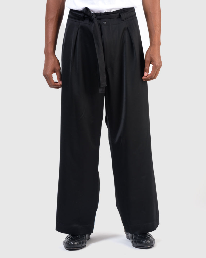 Crow Pattern Easy Pants in Black
