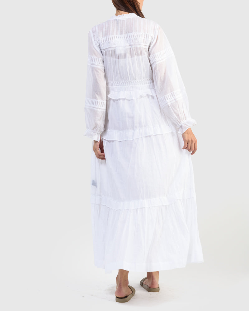 Likoya Dress in White