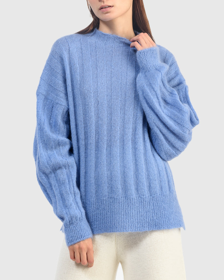 Makura Sweater in Dusty Blue