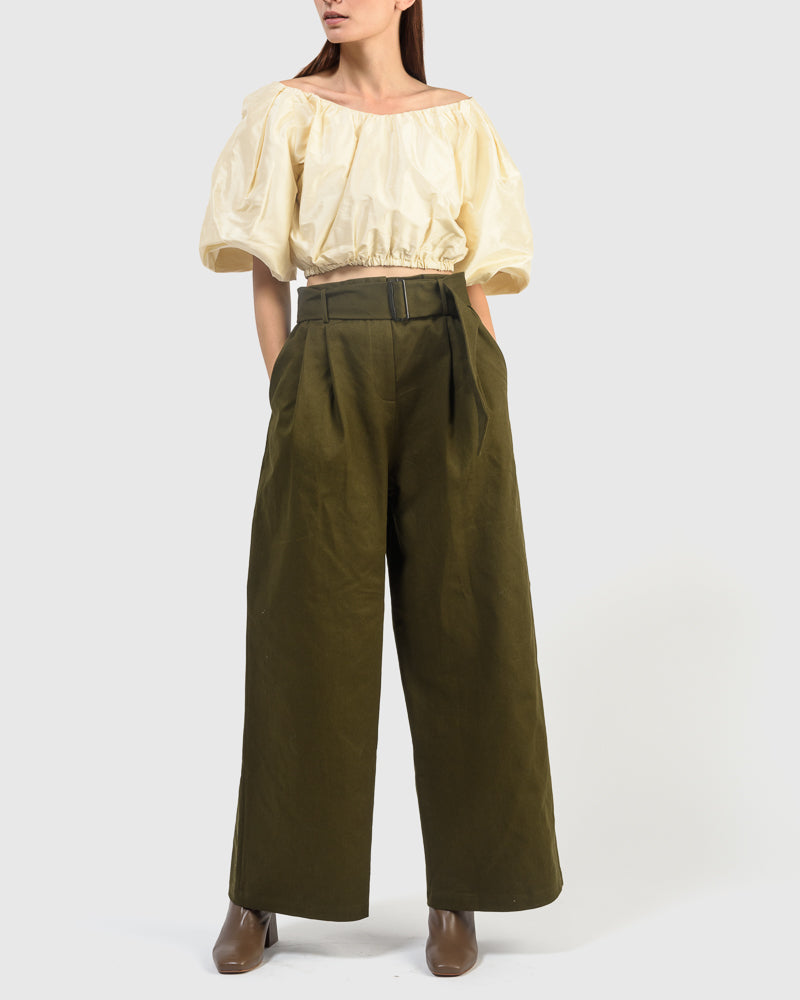 Museo Pant in Olive