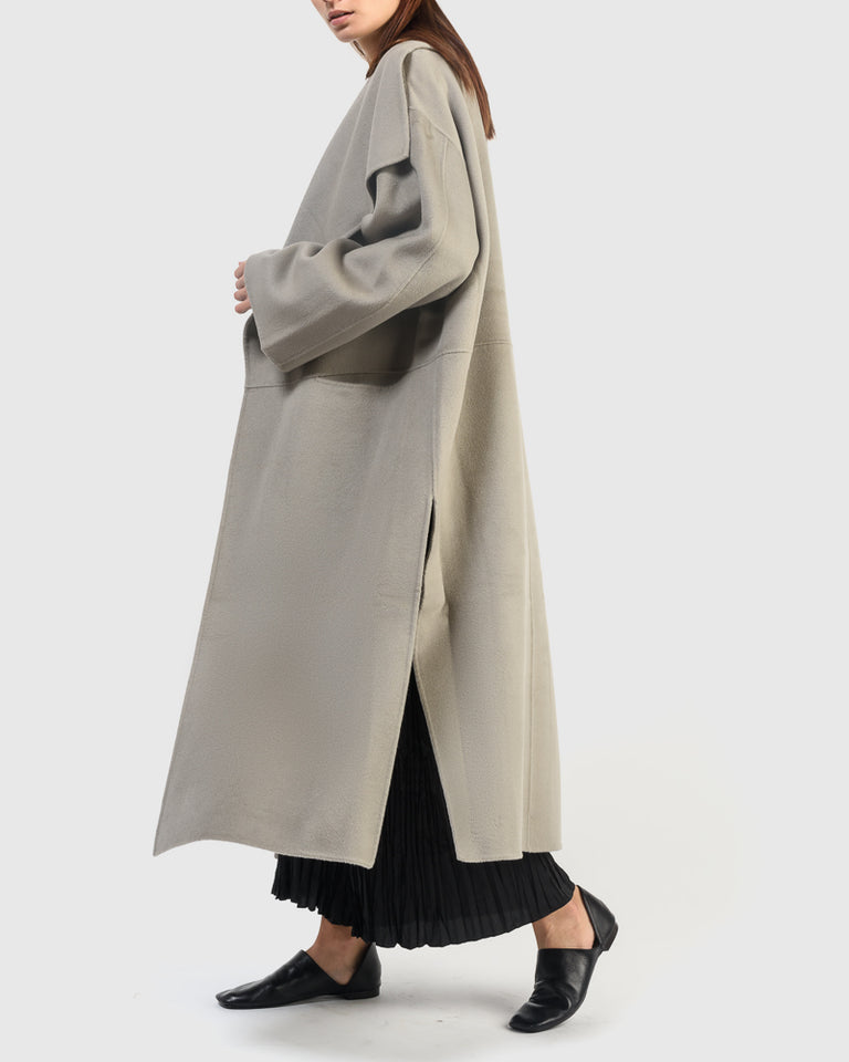 Annecy Long Coat in Elephant