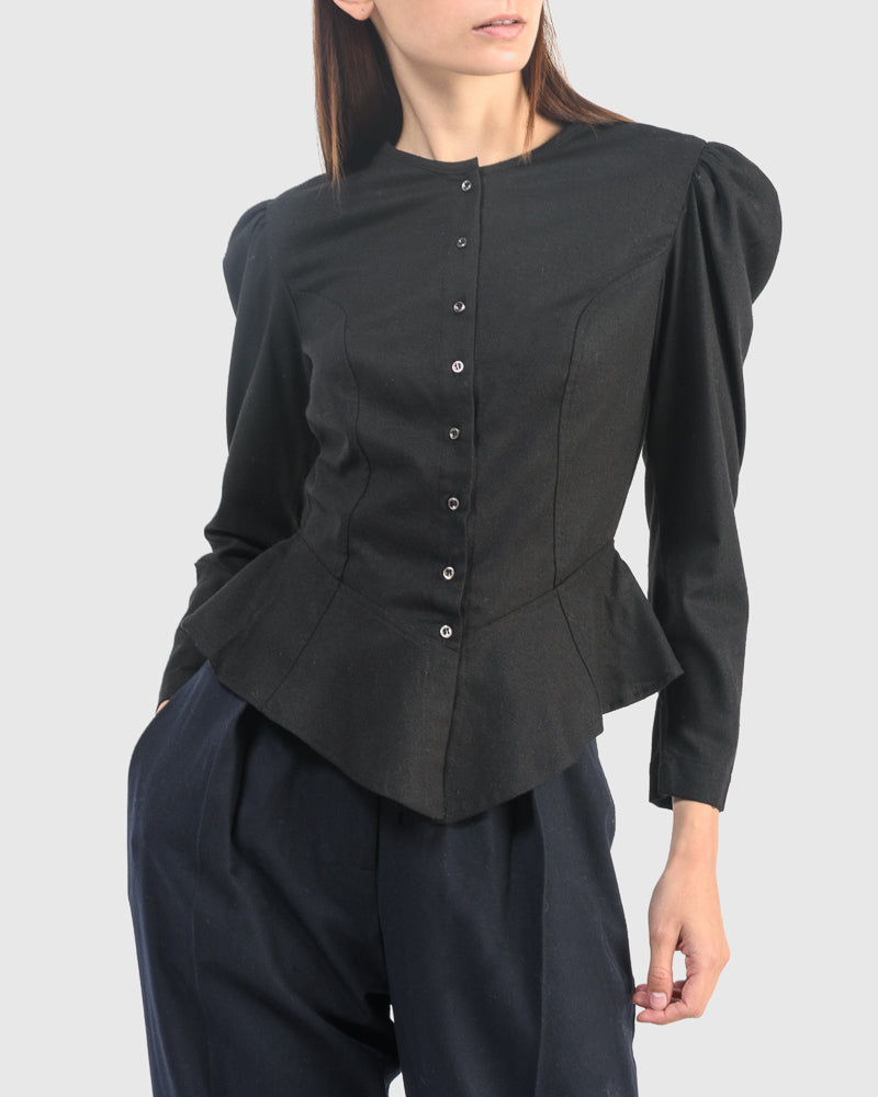 Rosa Blouse in Onyx