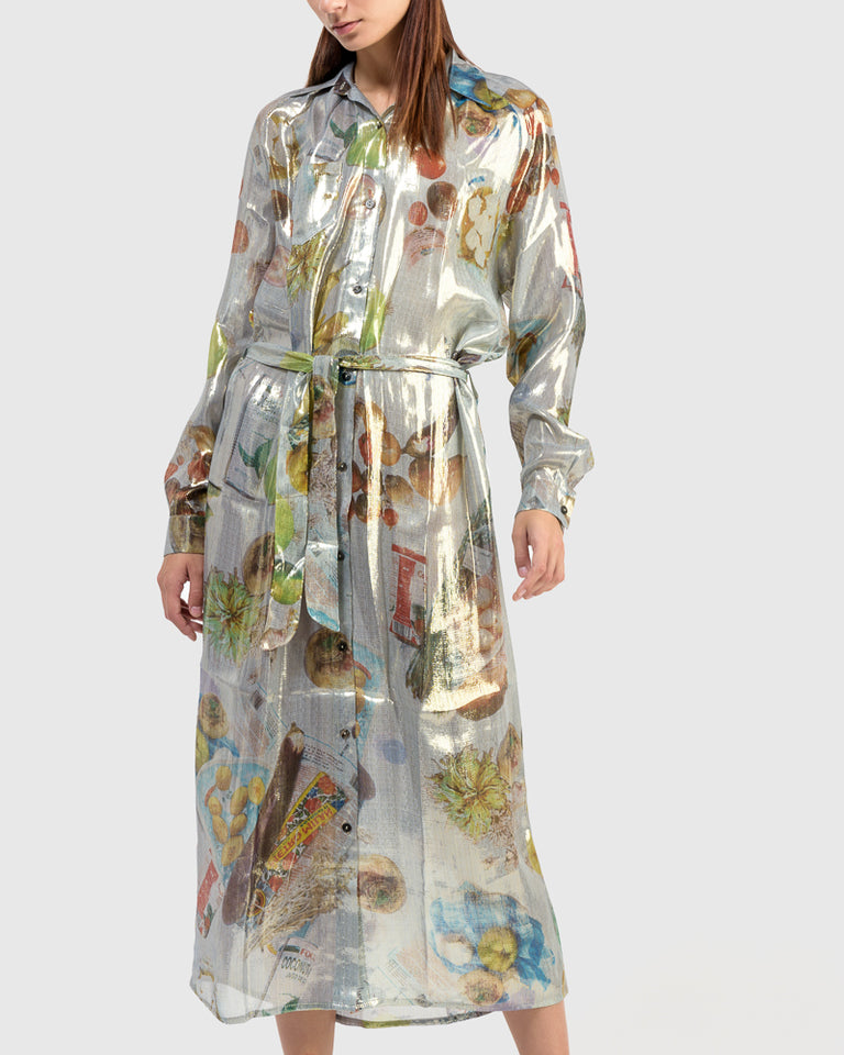Shirt Dress in Print A