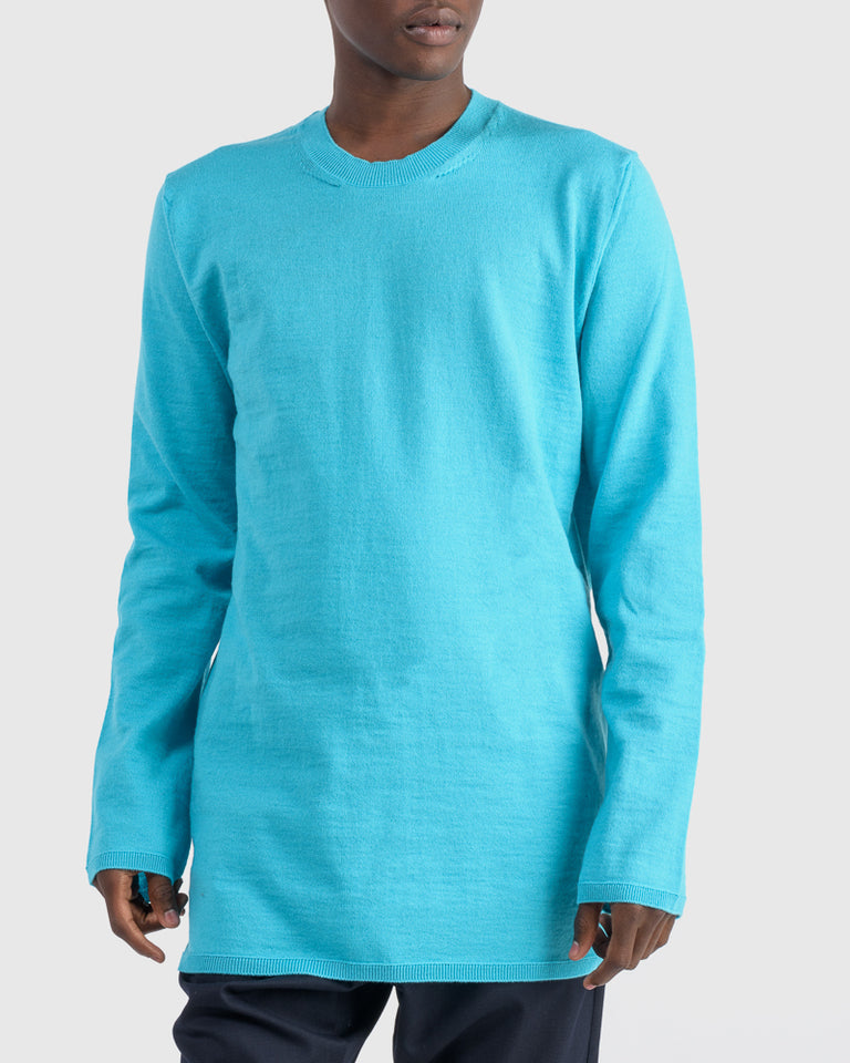 Pullover Sweater in Aqua