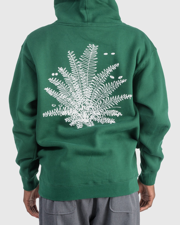 Super Natural Pullover Hoodie in Dark Green