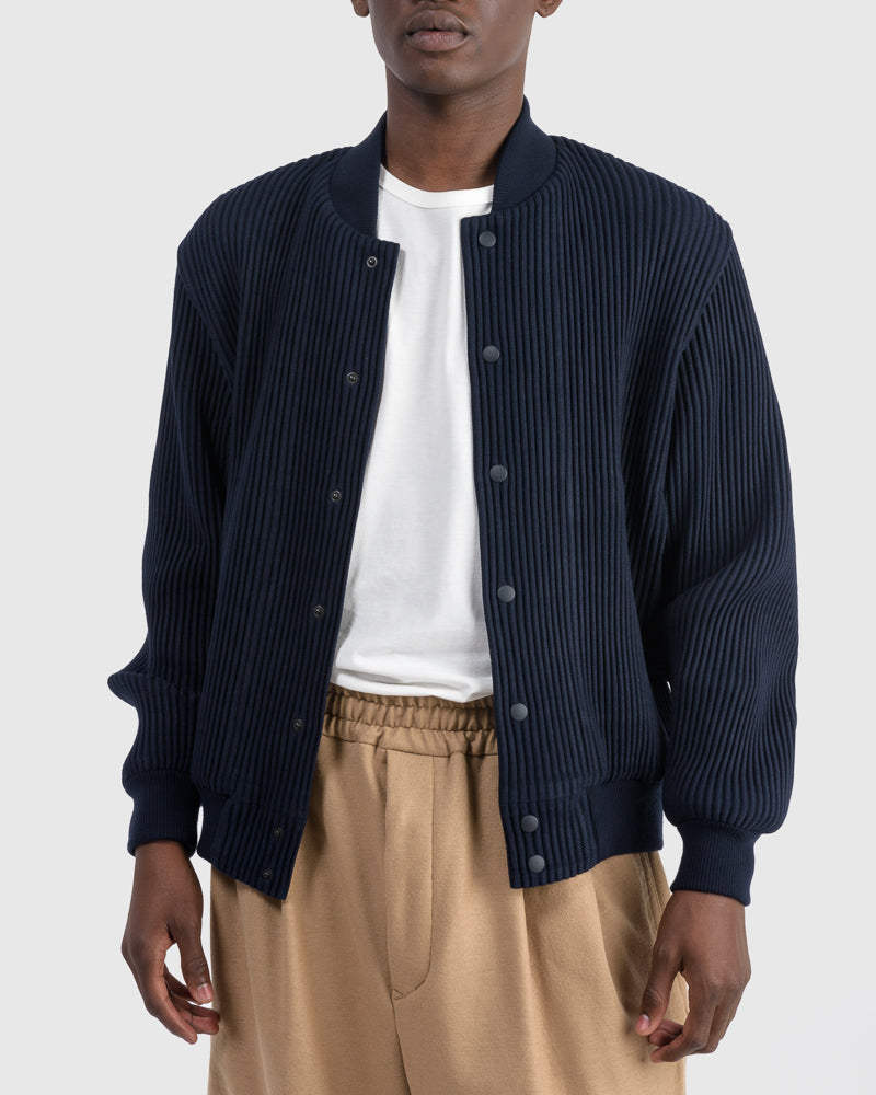 Wool Like Jacket in Navy