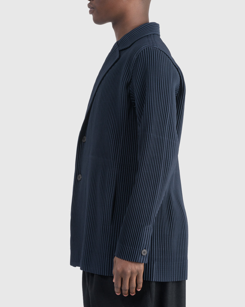 Tailored Pleats Jacket in Navy