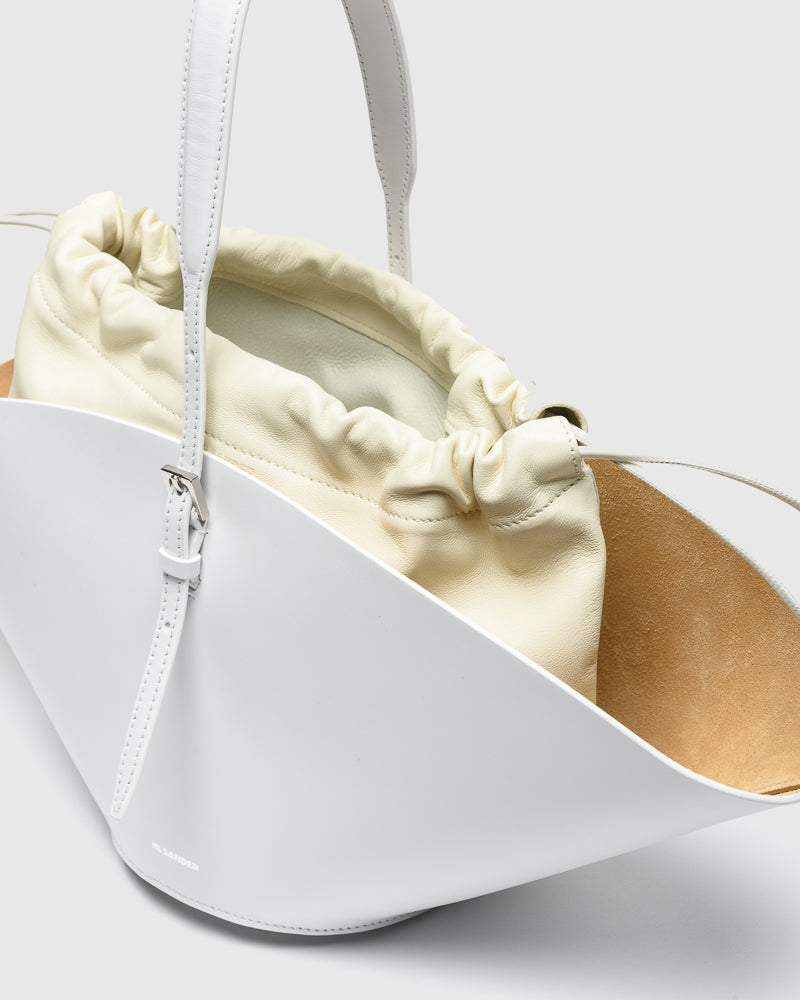 Sombrero Small Shoulder Bag in Optic White