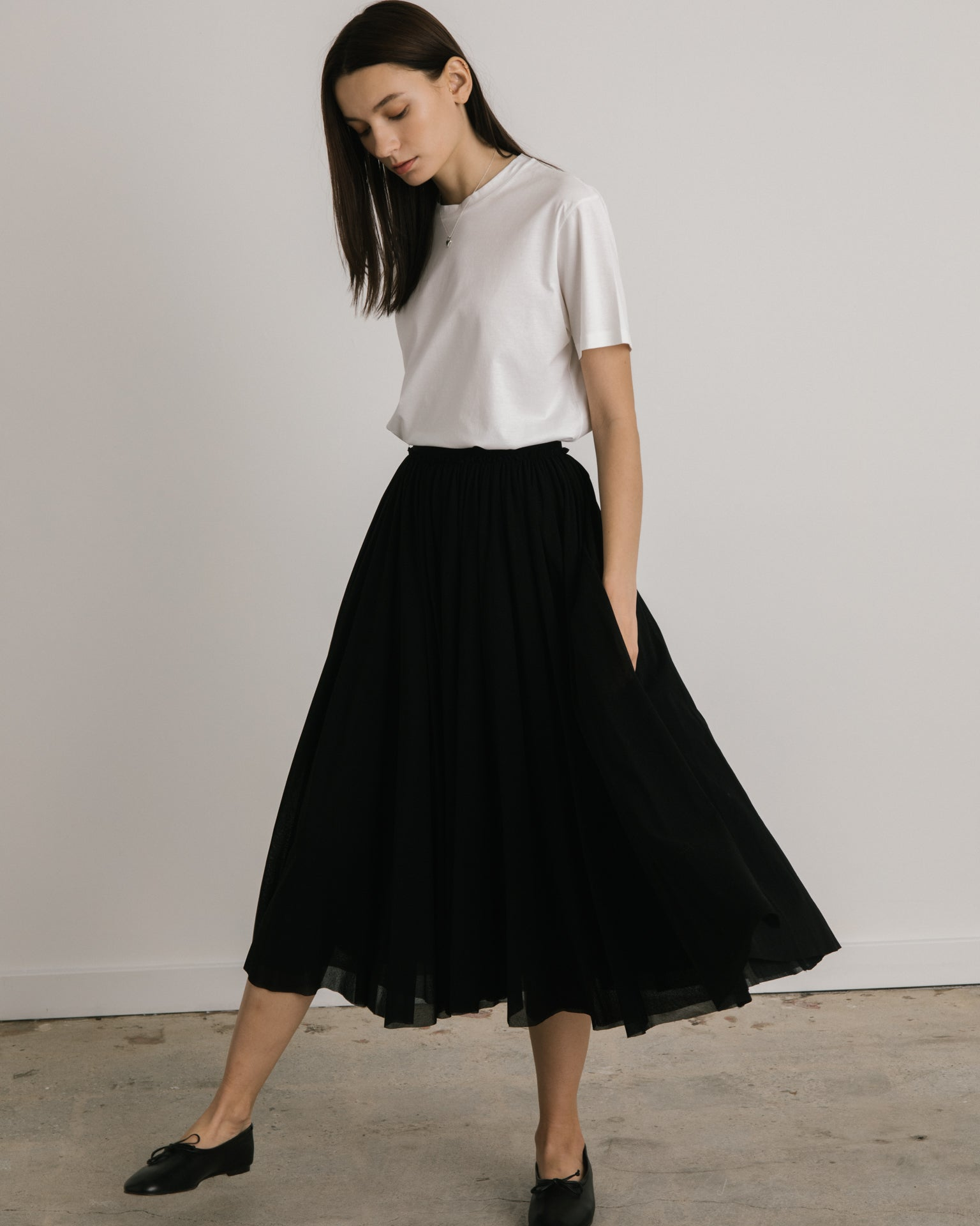 Tulle Skirt in Black