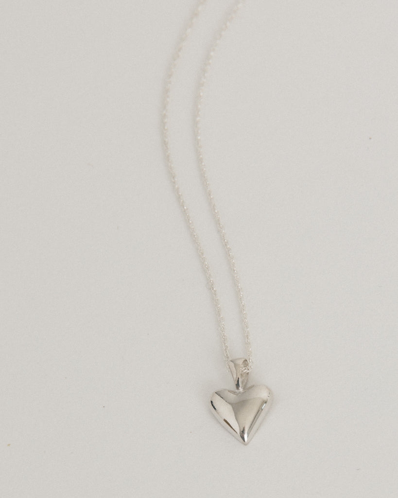 Tiny Heart Pendant in Sterling Silver