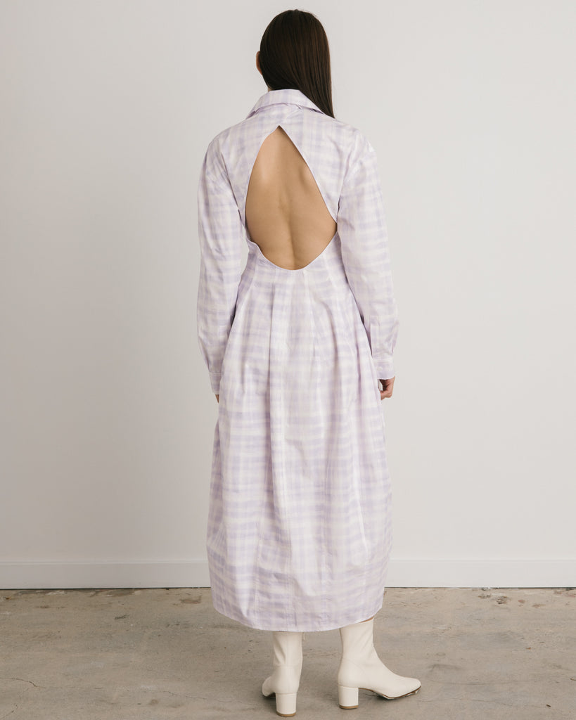 La Robe Valensole in Print Purple Checked