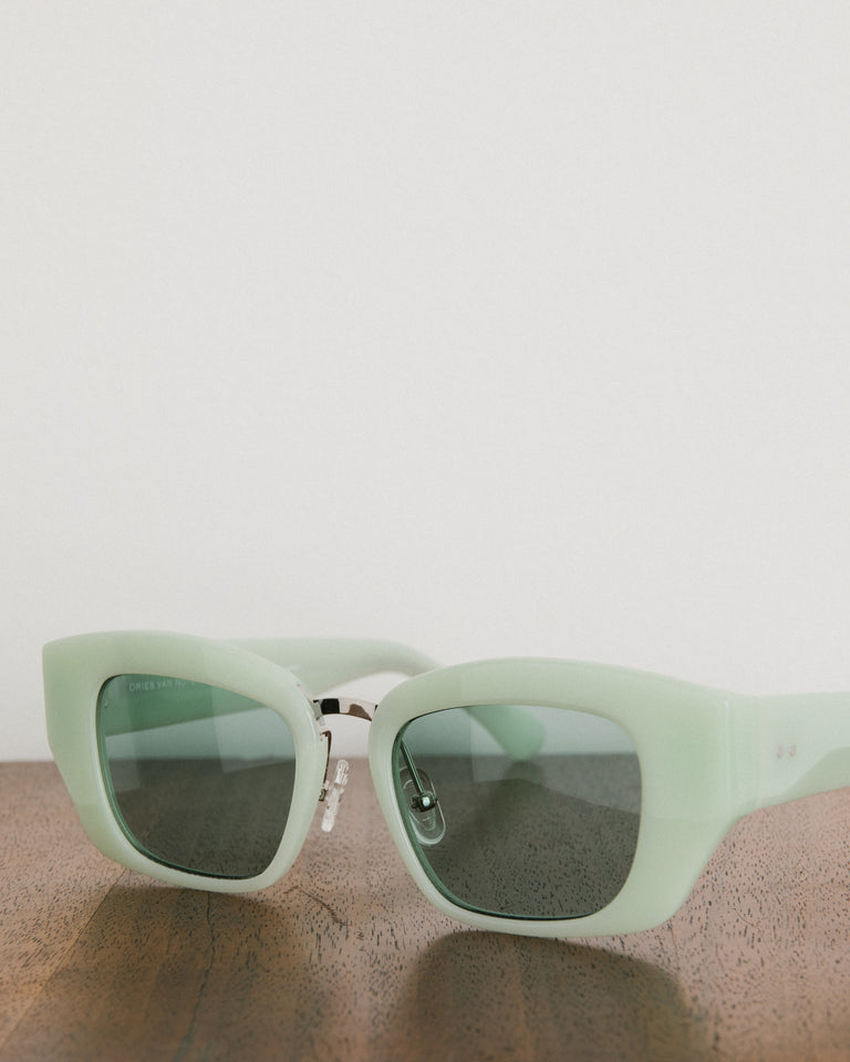 Sunglasses in Mint, Silver, and Green
