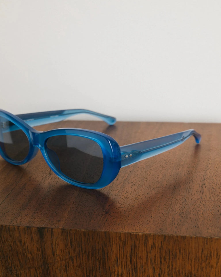 Sunglasses in Blue and Silver