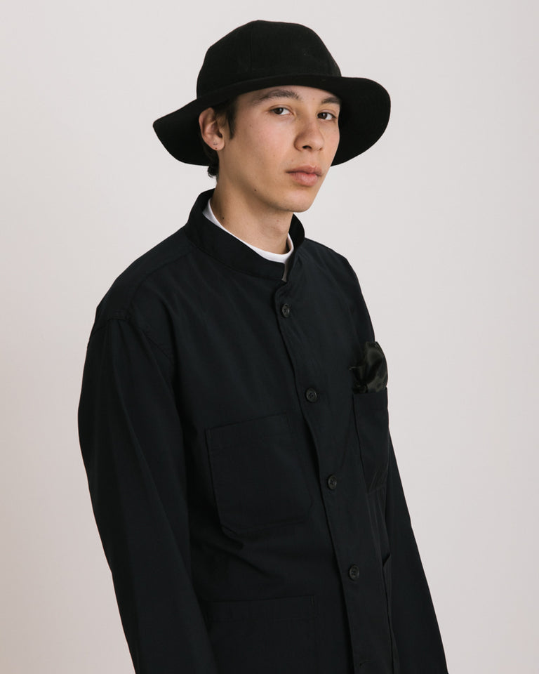 Linen Metro Hat in Black