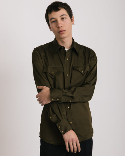 Curtain Shirt in Khaki