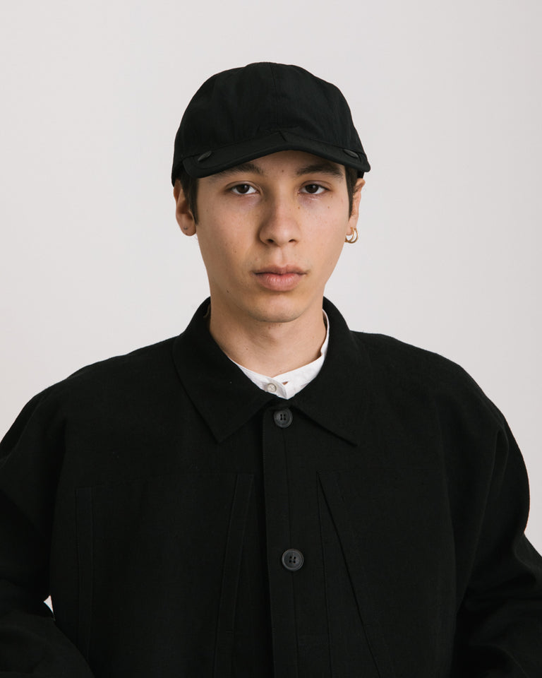 Condense Nylon Cap in Black
