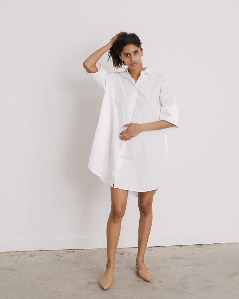 Shirt Dress in White