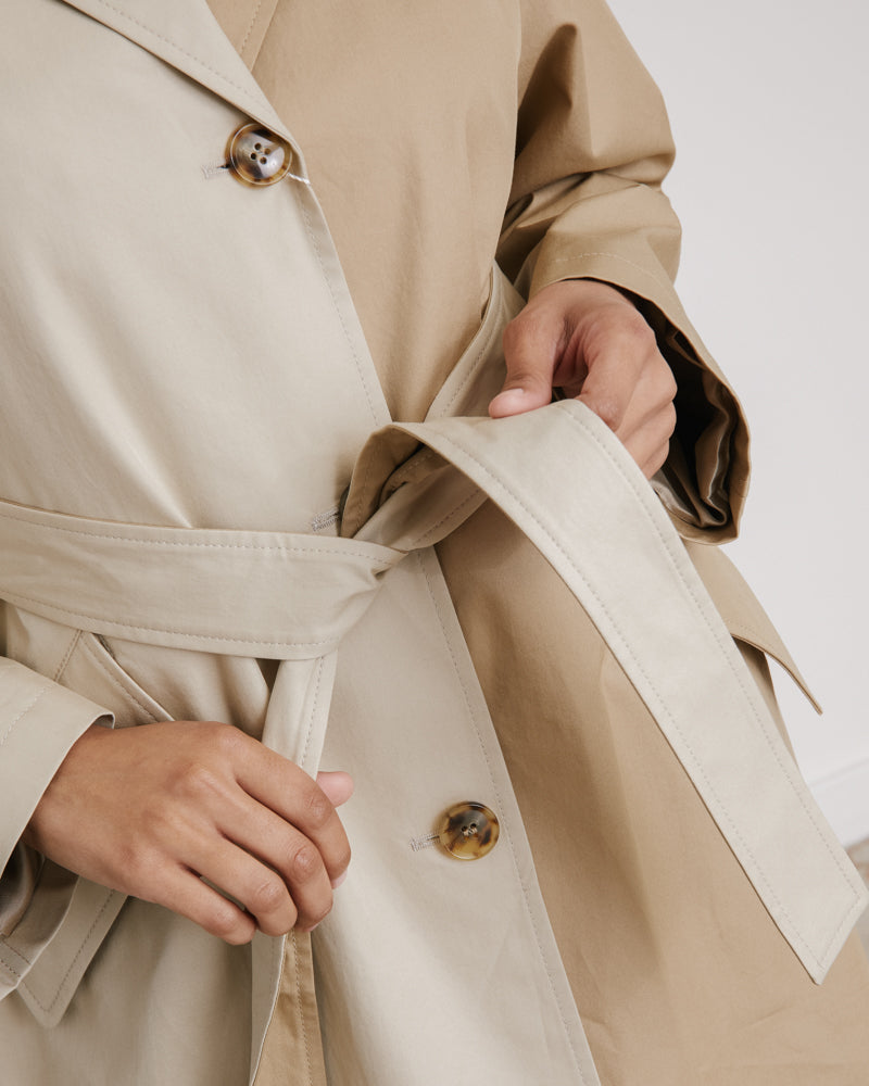 Trench Jacket in Mastic Beige