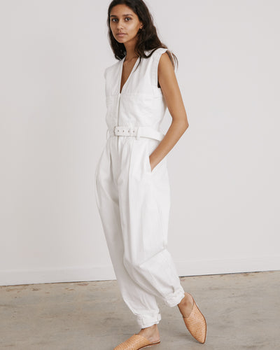 Sahara Jumpsuit in White