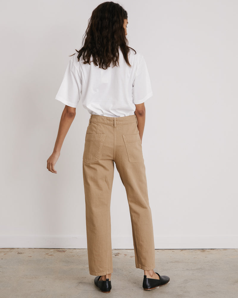 Twisted Pants in Beige