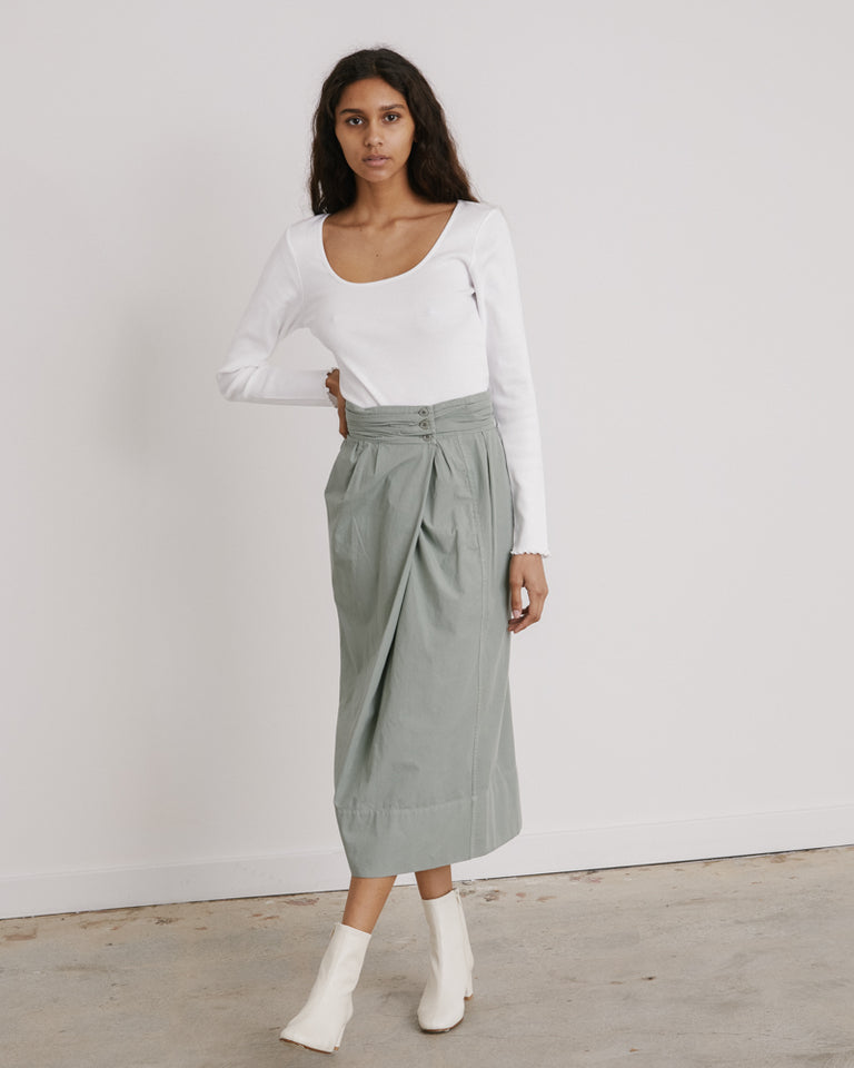 Cocoon Skirt in Khaki Grey