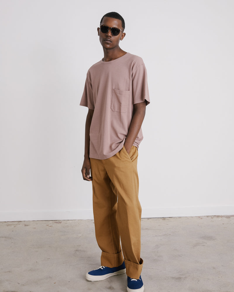 Crepe T-Shirt in Smoked Pink