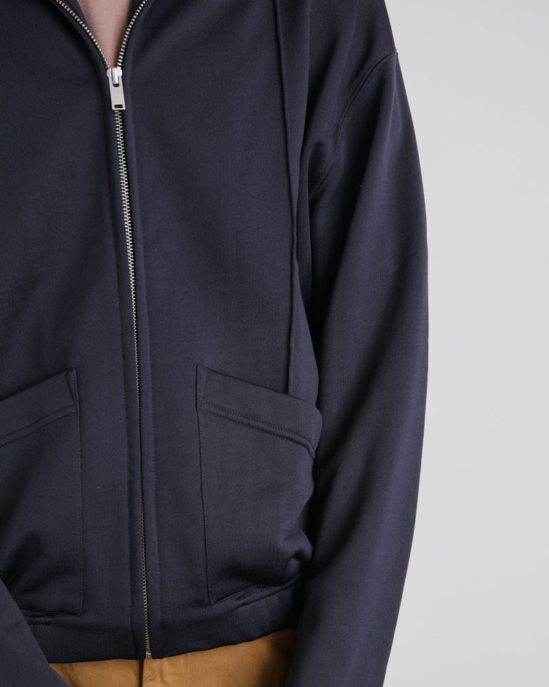 Zipped Fleece in Carbon