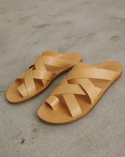 Sandals in Open Brown