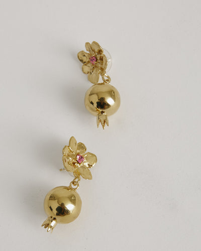 Melograno Earrings in Rose