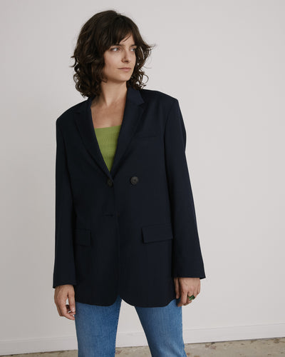 Oversized Tailored Jacket in Navy