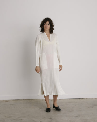 Caftan Dress in Off White