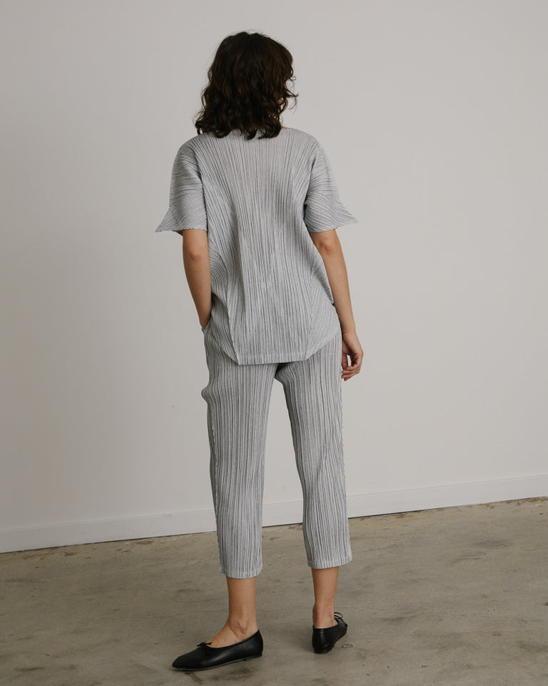 Pinstripe Pants in White