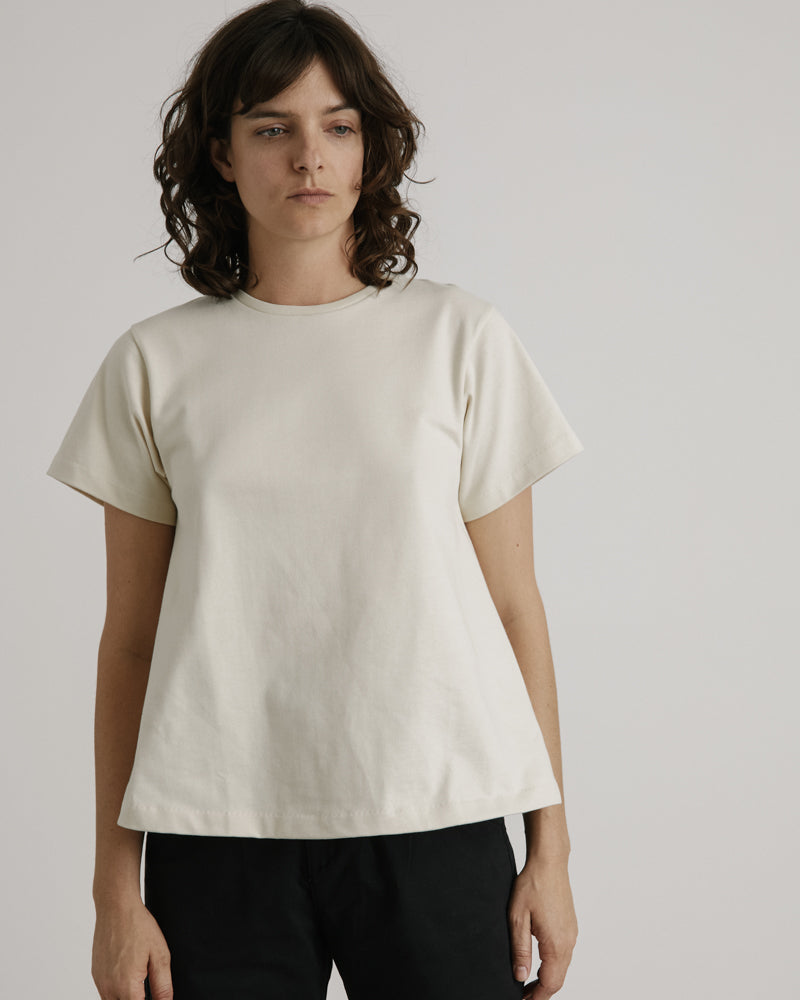 A-Line Tee in Creme