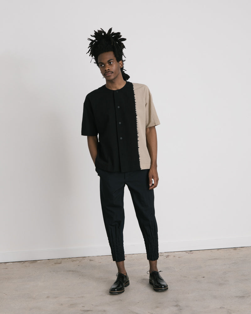 Two-Tone Shirt in Black