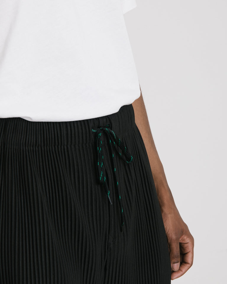 Pleated Shorts in Black