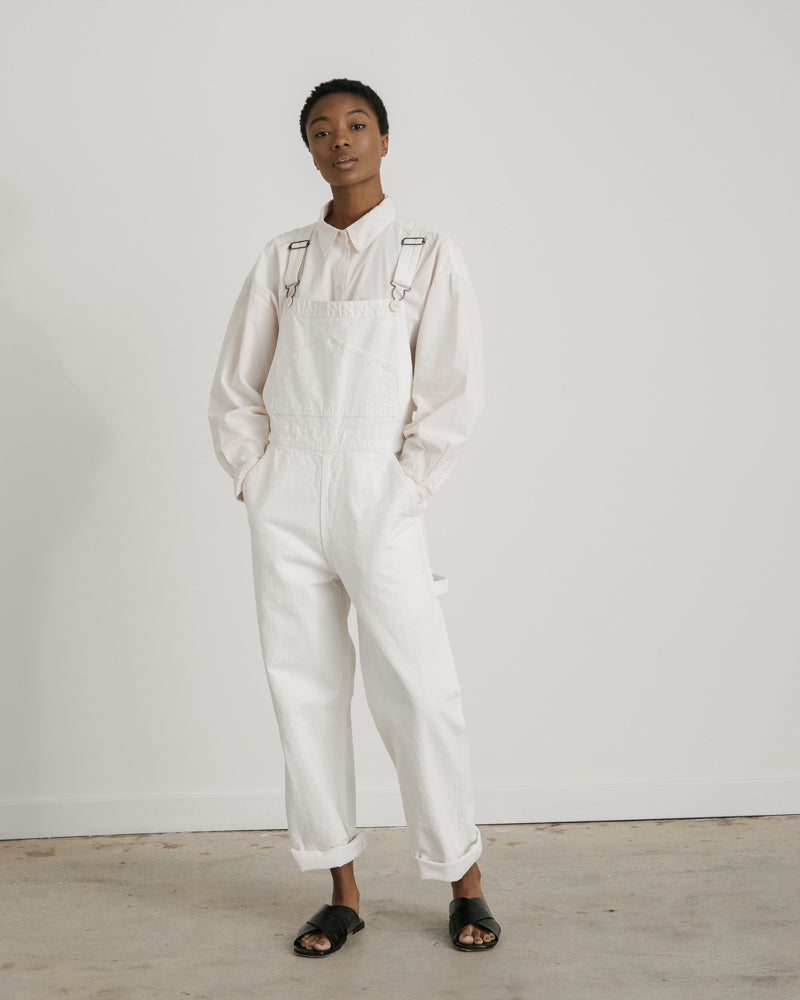 Overalls in Salt White