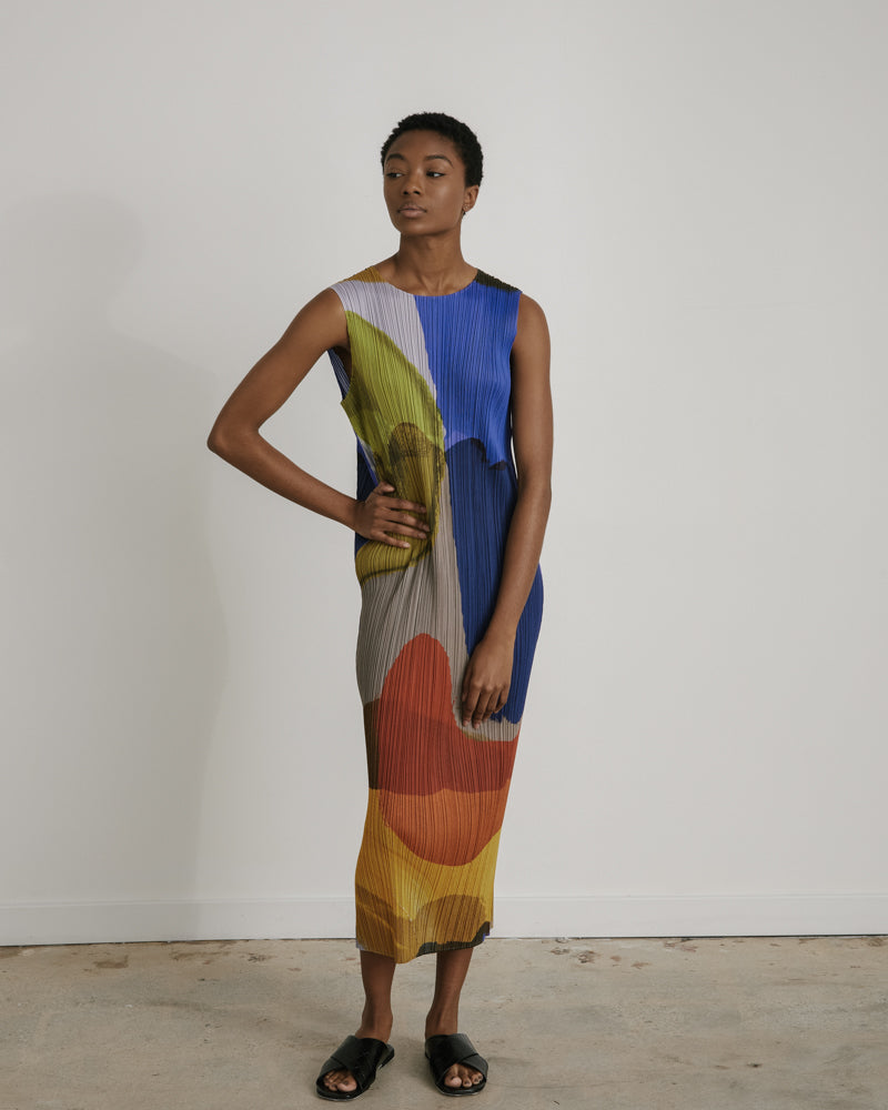 Sleeveless Dress in Multi