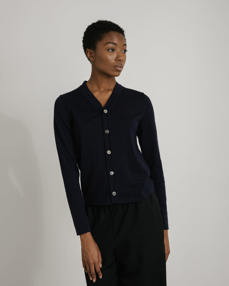 N001 Cardigan in Navy