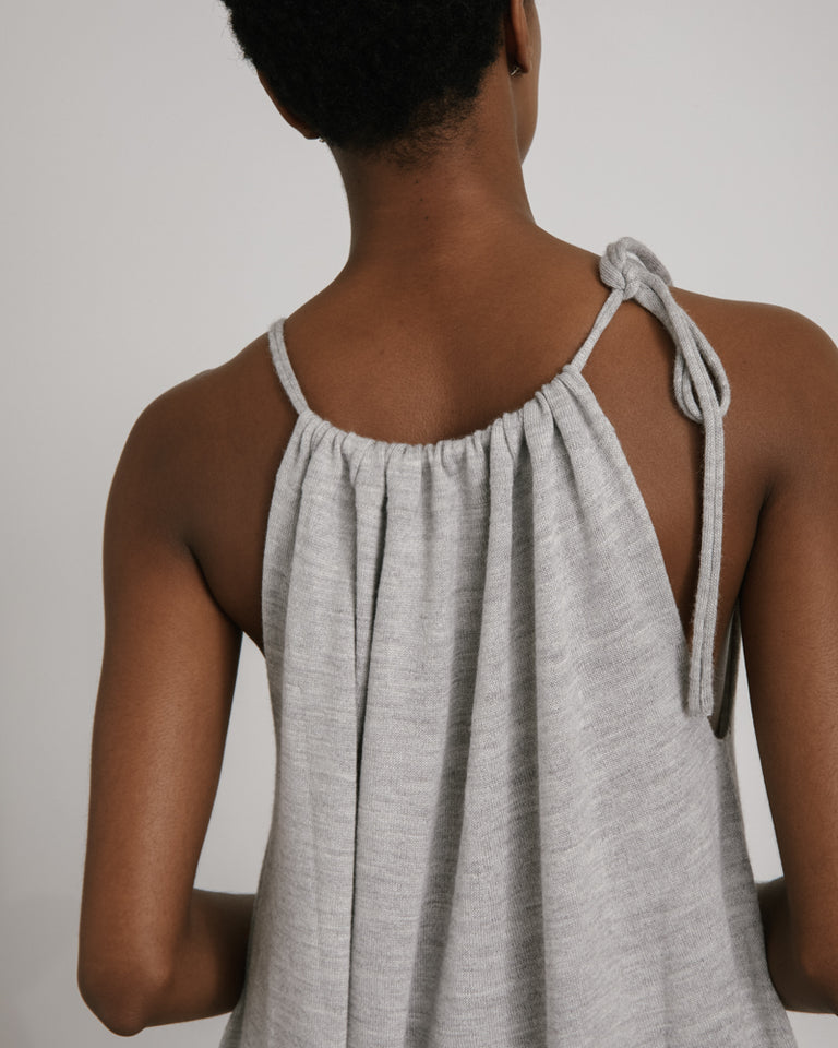 Draw Jumpsuit in Light Grey