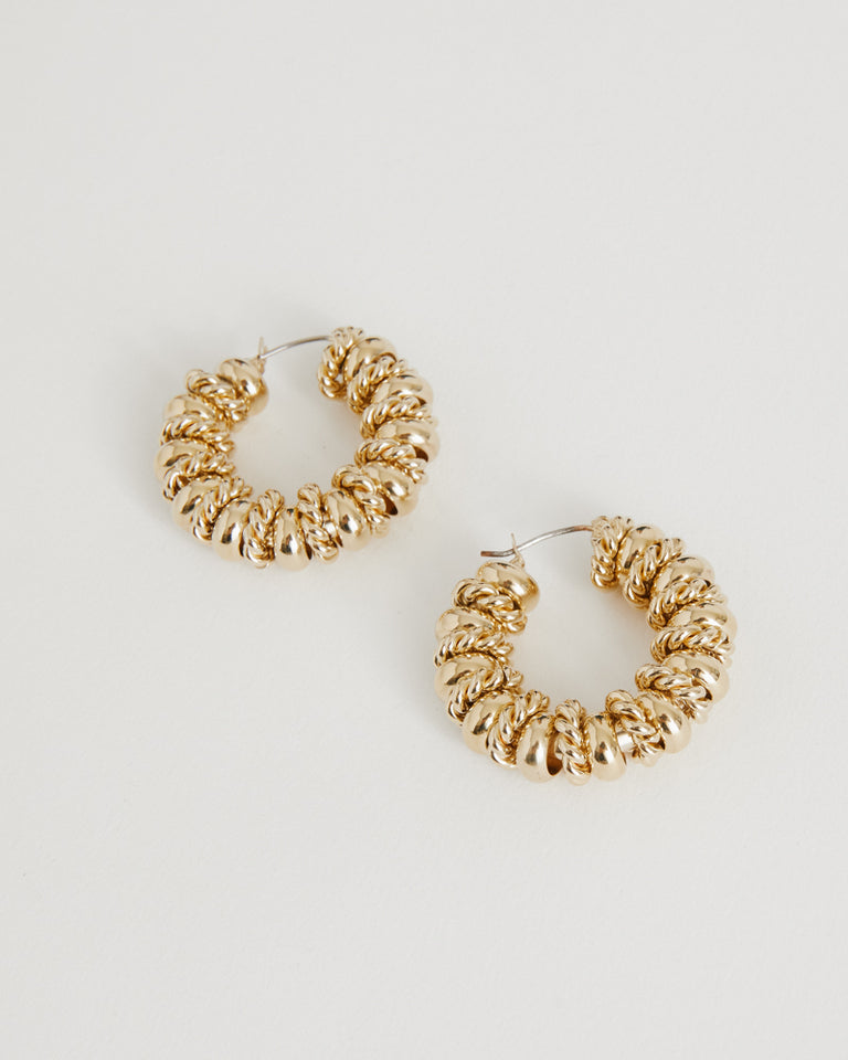 Serena Earrings in Brass