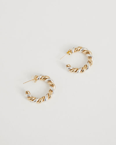 Mella Hoops in Brass
